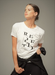 "[SDB] Repetto : T-shirt ""I am a Repetto girl"" noir fond blanc"